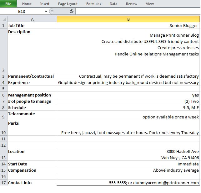 How To Avoid Creating Bad Job Postings With a Simple Excel ...