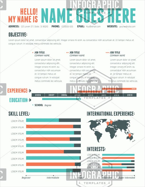 infographic resume templates 25 infographic resume templates free