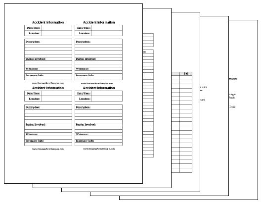 Business Form Templates Collection Template