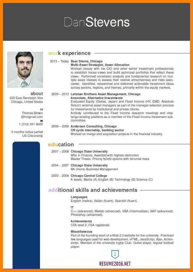 9+ latest resume format | resume pictures