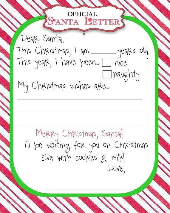 Santa List Template Printable Free Printable Santa Wish List – Printable Christmas Wish List Template