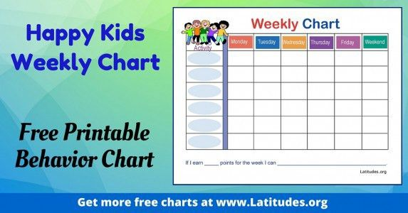 FREE Printable Behavior Charts for Teachers & Students (4th - 6th ...