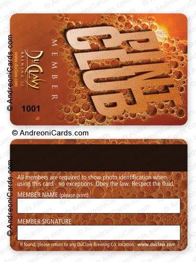 membership card design sample | Pint club