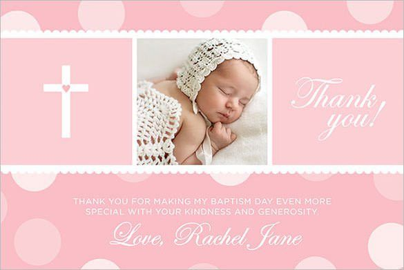 21+ Christening Thank You Cards - Free Printable PSD, EPS ...