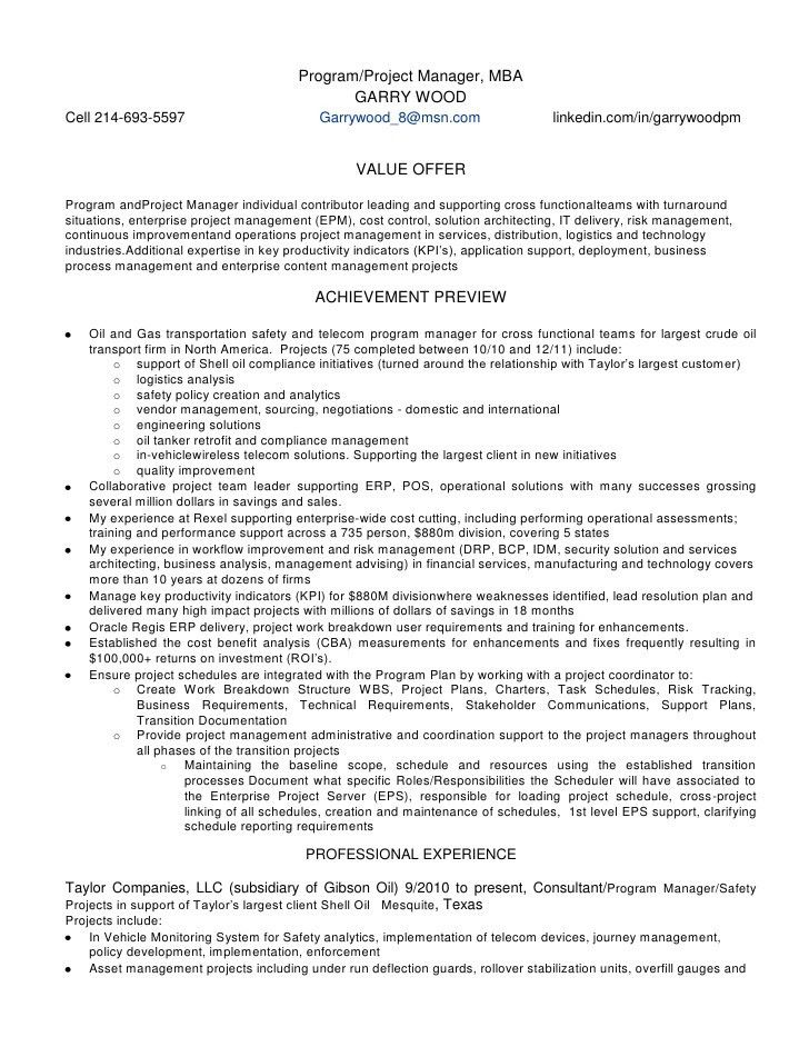 Mesmerizing Oracle Erp Project Manager Resume 67 For Your Free ...