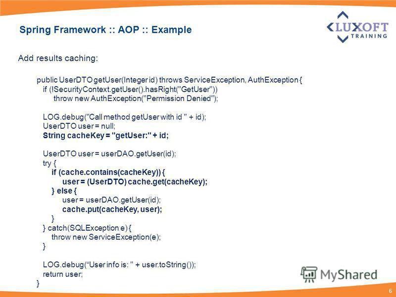 """Презентация на тему: """"Spring Framework Module 3 – AOP. 2 Spring ..."""