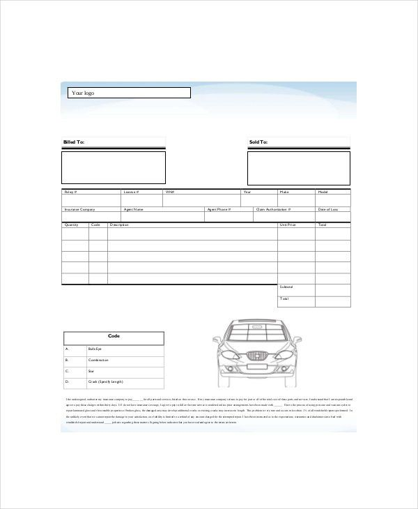 Repair Invoice Template - 7+ Free Word, Excel, PDF Documents ...