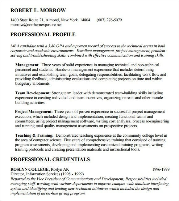 formalbeauteous mba admission resume objective sample participated ...