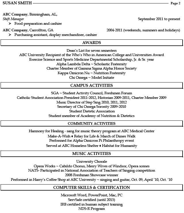 Graduate Dietitian Resume Cover Letter Examples For Receptionist ...