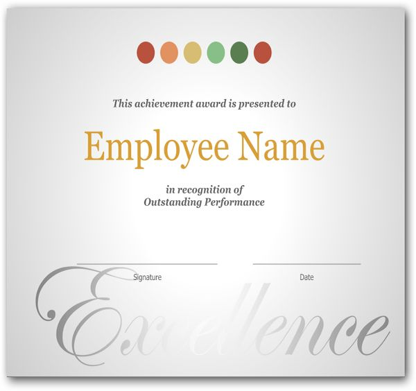 9 Best Images of Employee Recognition Certificates - Employee ...