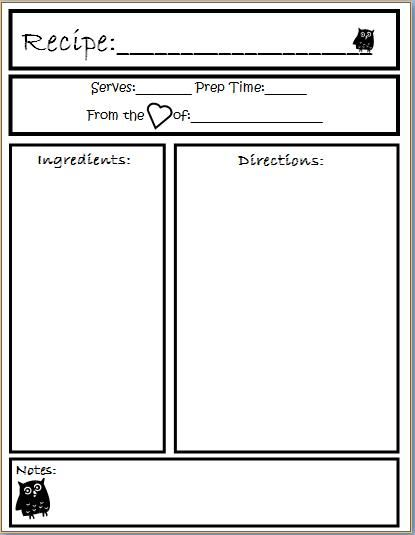Pin by Laura Williams on Misc Cookbook template, Recipe book