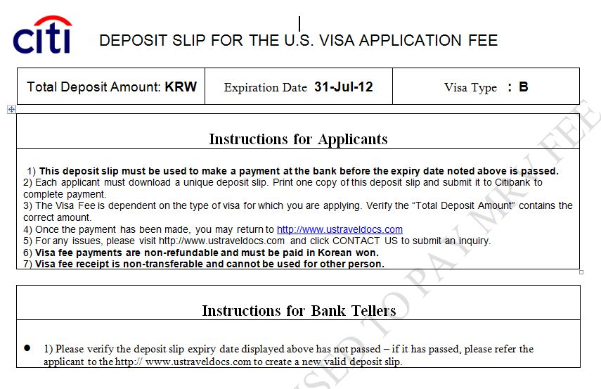 Apply for a U.S. Visa | Bank and Payment Options/Pay My Visa Fee ...