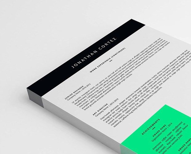 Two-Pages Resume Template (PSD, Word)