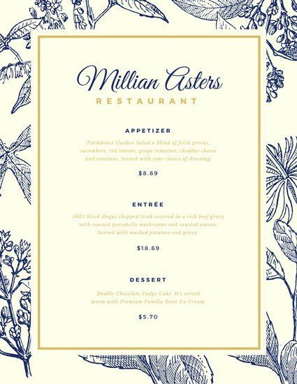 Elegant Menu Templates. 23 wedding menu templates free sample ...