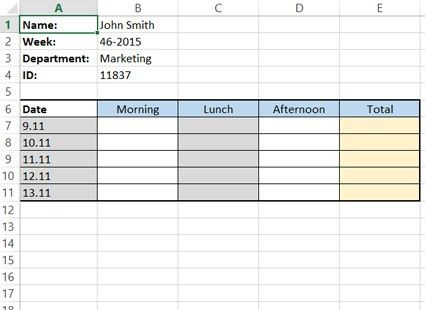 How To Create A Simple Excel Timesheet - A Visual Guide