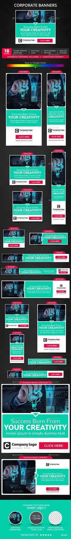 Mobile App Web Banner Set Template PSD | Buy and Download: http ...