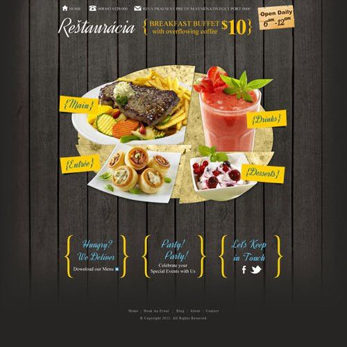 Restaurant website template design | Free Website Templates