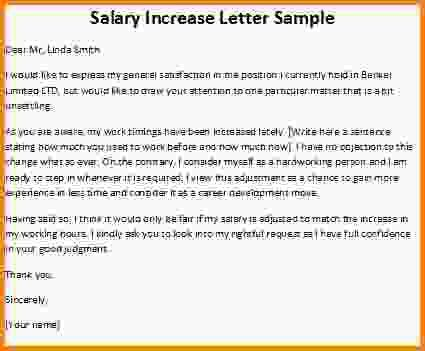 Salary Increase Letter.Annual Salary Increment Letter Sample Free ...
