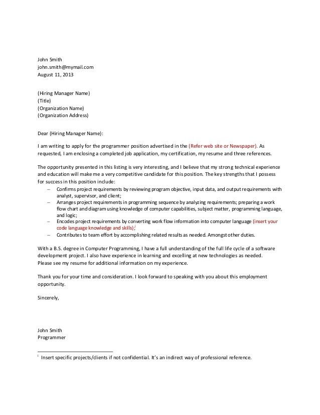 killer cover letter example for Killer Cover Letters - My Document ...