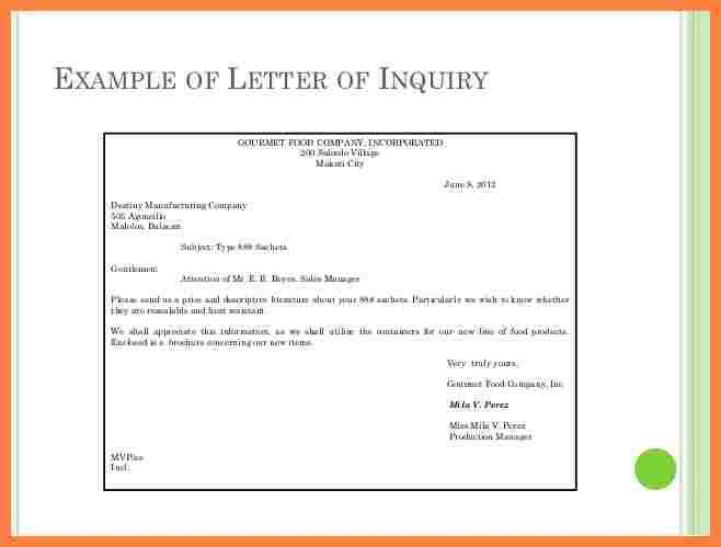 13+ example of letter of inquiry | Bussines Proposal 2017