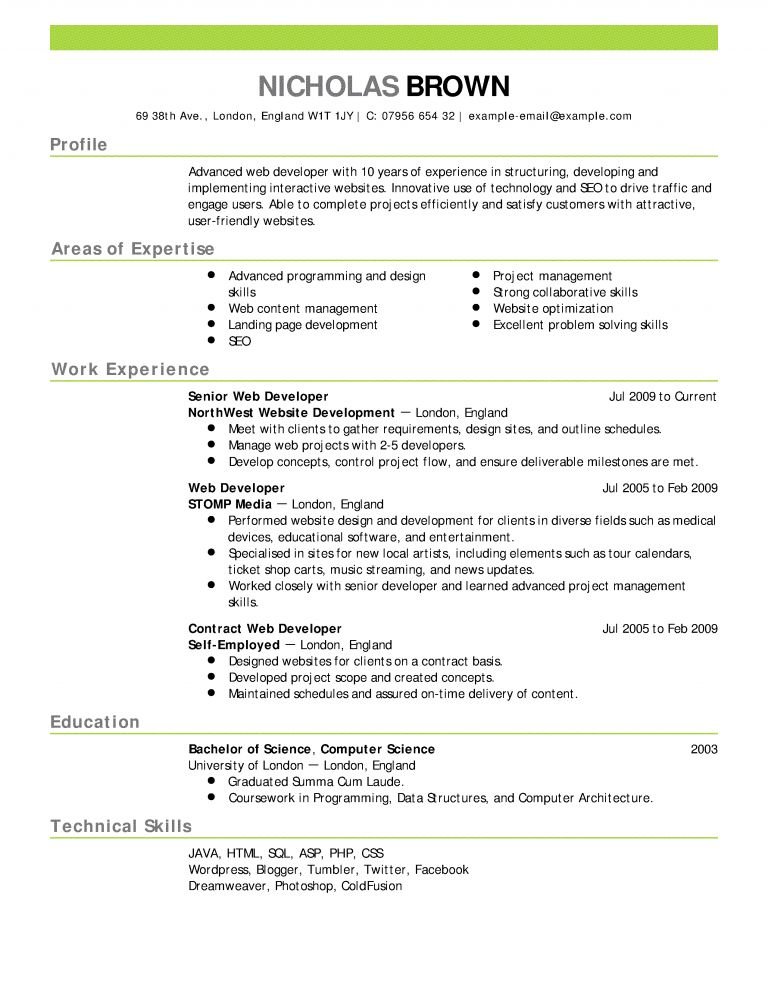 Pleasing Example Of Resume Most - Resume CV Cover Letter