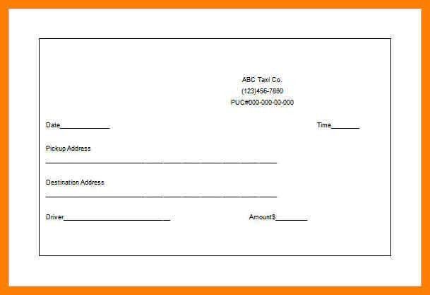 9+ sample taxi receipt | produce-clerk