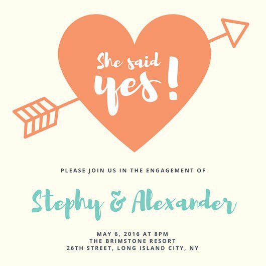 Engagement Party Invitation Templates - Canva