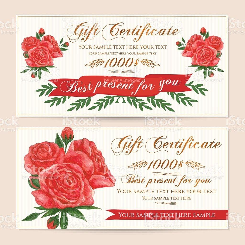 Gift Certificate Voucher Coupon Reward Card Template stock vector ...