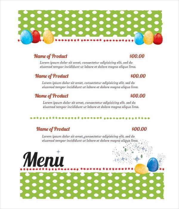 9+ Easter Menu Templates - Printable JPG, PSD, EPS Format Download ...
