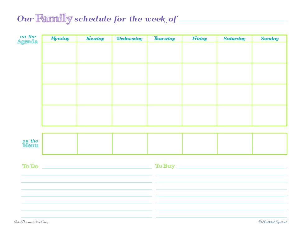 Weekly planner & many more lovely printables from Scattered ...