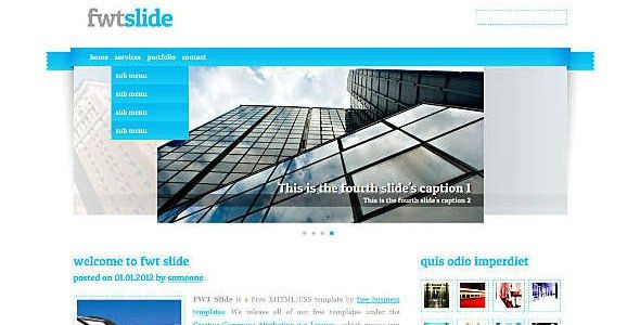 Free and Premium Corporate HTML Website Templates - Designmodo