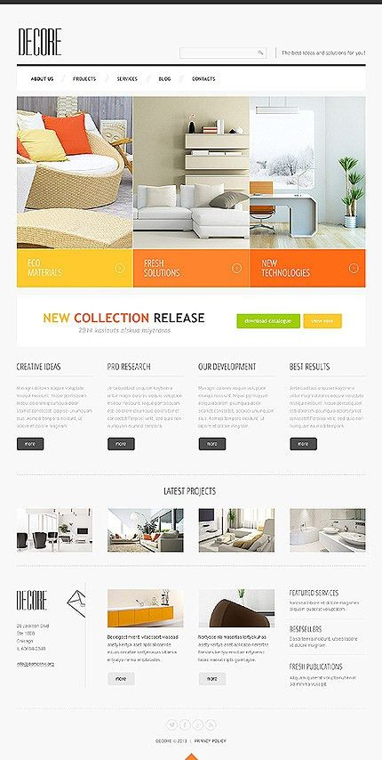 Website Templates Interior And Furniture Decore Furniture Profile ...