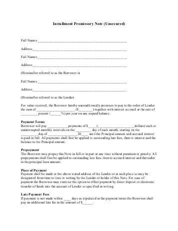 Student Installment Payment Plan Application, Promissory Note and ...