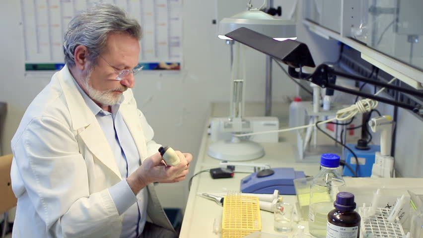 Chemistry Lab Chemist Woman Working Scientist Experiments Pharmacy ...