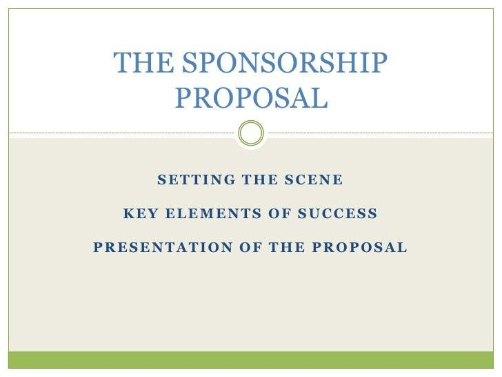 Top 5 Resources To Get Sponsorship Proposal Templates - Word ...