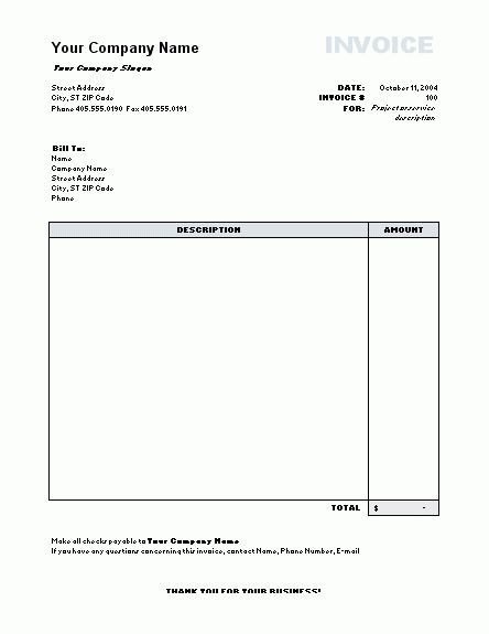 Download Simple Invoice Template Excel Free | rabitah.net