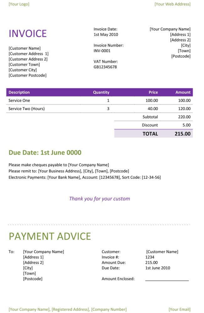 Freelance Invoice Template Word | invoice example