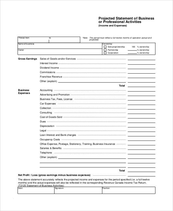Sample Income Statement - 7+ Documents in PDF, Word, Excel