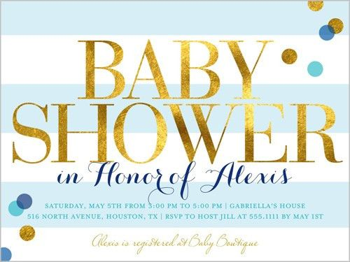 Baby Shower Etiquette and Wording Examples