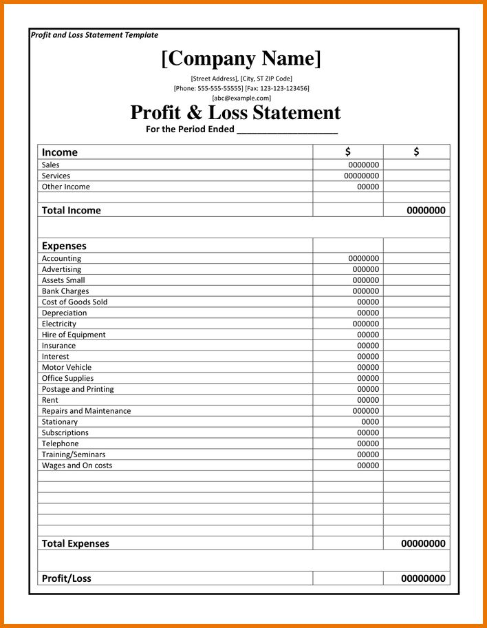 Profit And Loss Template.profit And Loss Statement Template 1.png ...