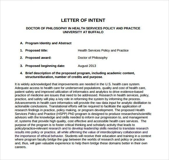 Letter of Intent Medical School - 7+ Download Free Documents in ...