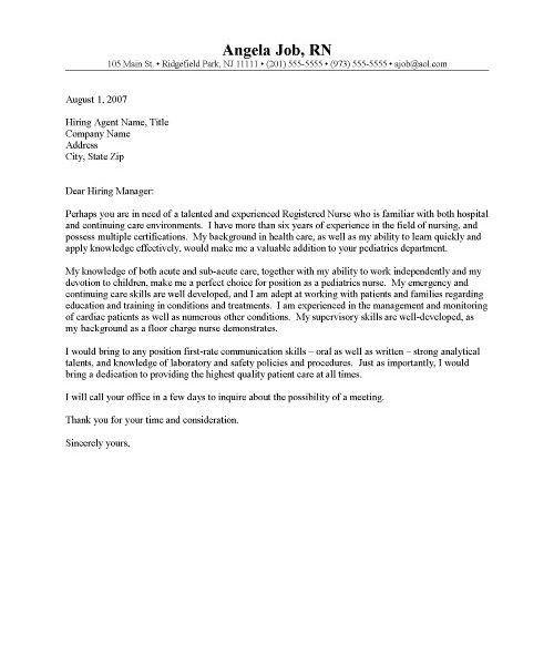 Rn Resume Cover Letter, registered nurse (rn) resume sample \ tips ...