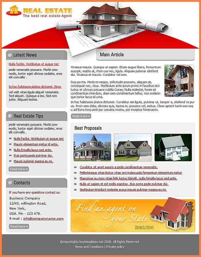9+ real estate newsletter templates free | Newsletter Template