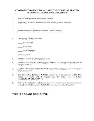Victoria Landlord and Tenant Notice Forms | Legal Forms and ...