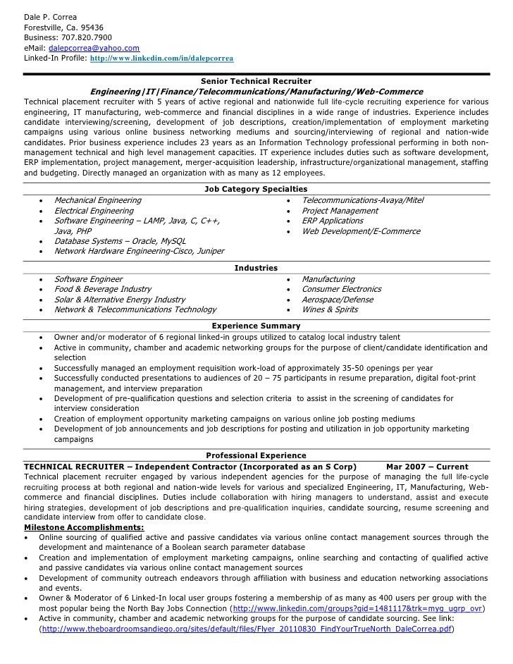 corporate recruiter resume. recruitment consultant resume sample ...