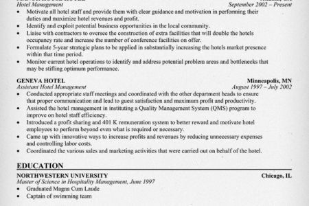 100+ [ Hotel Management Resume ]   Resume Skills For Hotel And ...