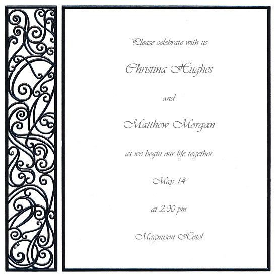 Blank Wedding Invitations #7 - Red And Black Wedding Invitation ...