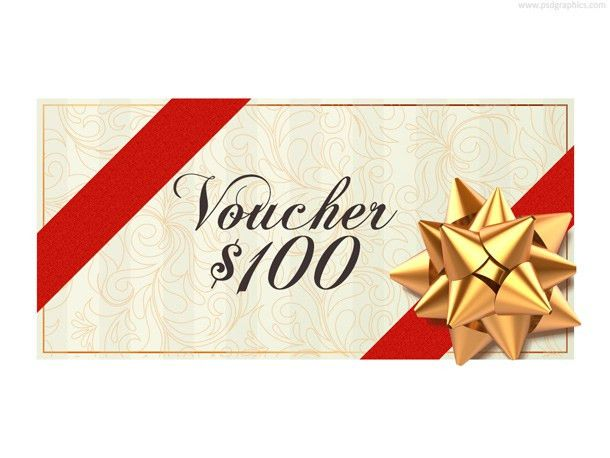 Christmas voucher template (PSD) | PSDGraphics