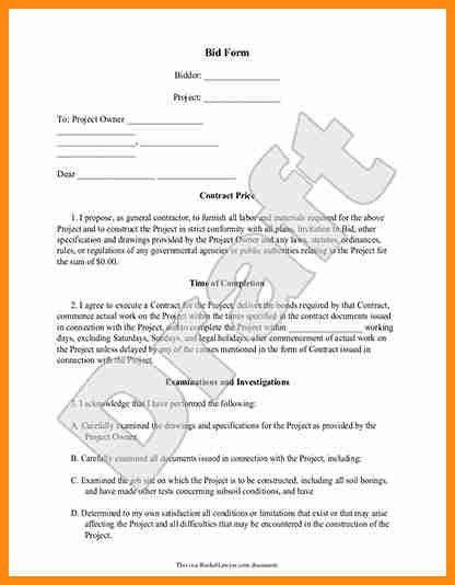 9+ contractor bid template | driver-resume