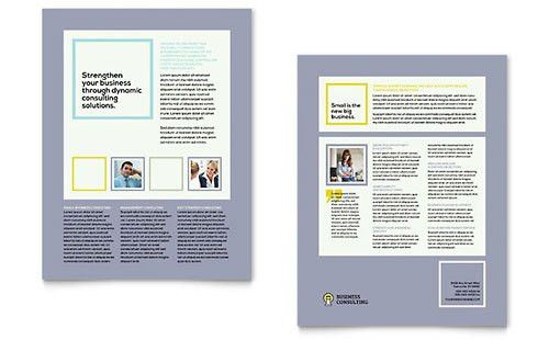 Sales Sheet Templates - InDesign, Illustrator, Publisher, Word